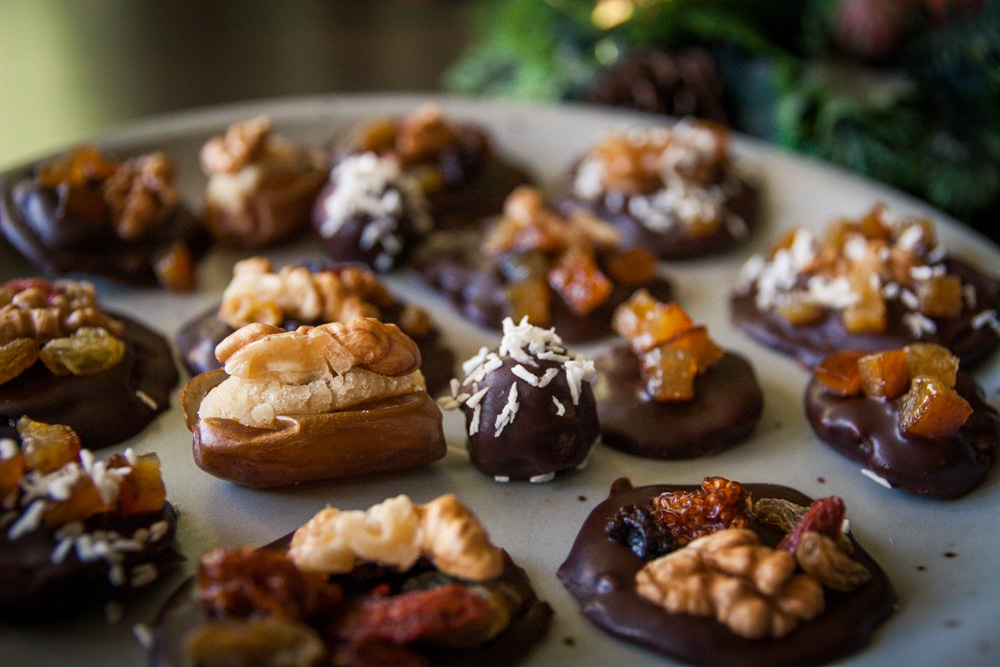 truffes chocolatées véganes à la pâte d'amande maison