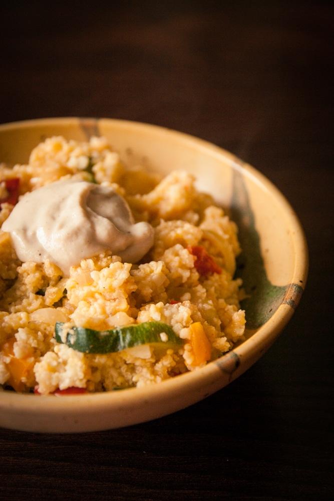 Millet ail citron aux l gumes et sauce tahin cuisine - Cuisine facile pour debutant ...