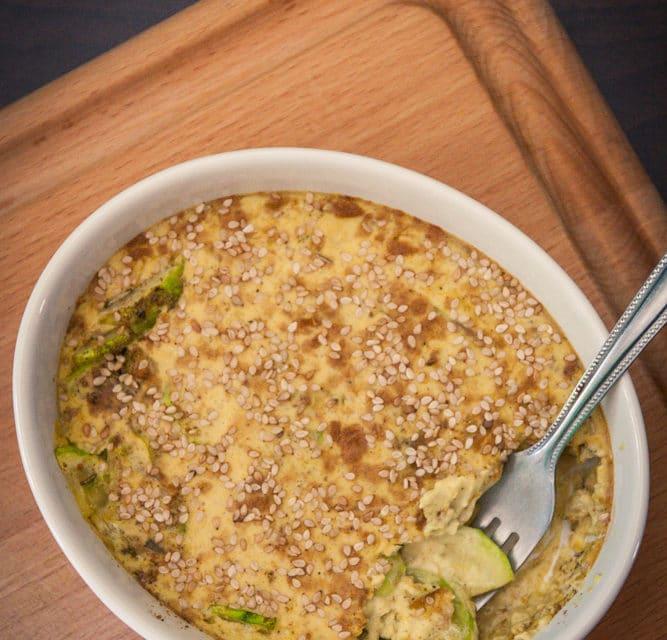 recette facile Gratin vegan de courgette au sésame cuisine végane pour débutant recette vegan facile