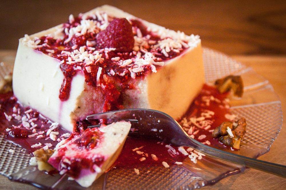 fondant aux framboises dessert végane au tofu soyeux