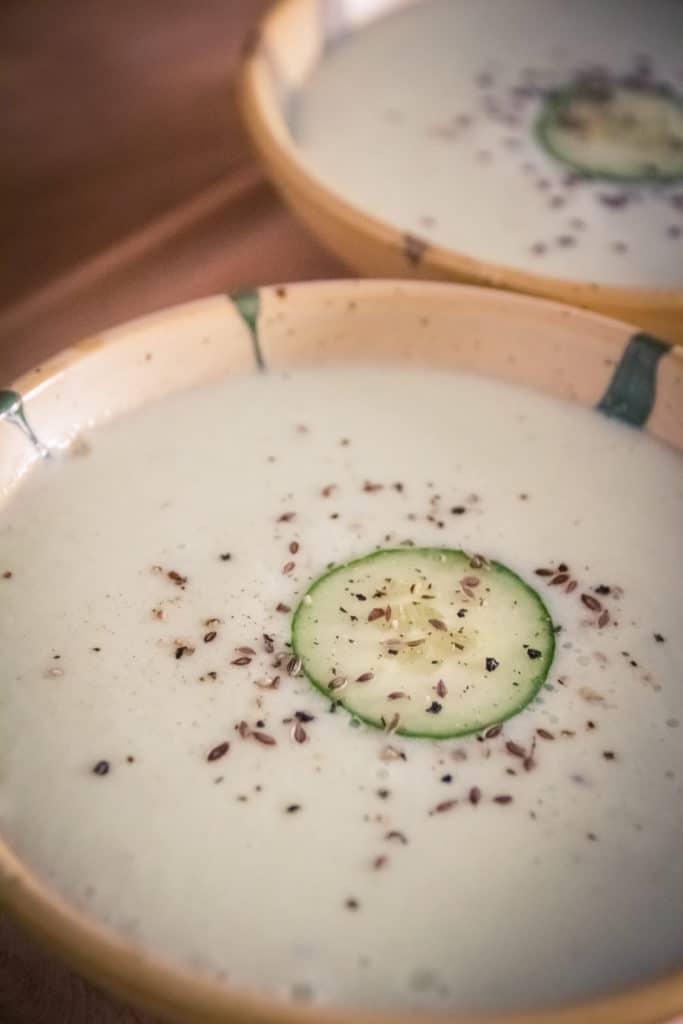 Soupe froide de concombre cuisine v gane pour d butant e - Cuisine thai pour debutants ...